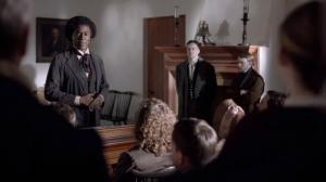 Douglass at antislavery meeting