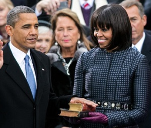 "President Barack Obama takes the oath of office, Jan. 21, 2013.  <a href=""http://www.whitehouse.gov/sites/default/files/imagecache/embedded_img_full/image/image_file/20130121-oath.jpeg"">Official White House photo by Sonya N. Hebert.</a>"