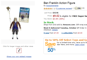 Amazon.com- Ben Franklin Action Figure- Toys & Games