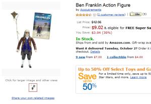 Amazon.com- Ben Franklin Action Figure- Toys & Games