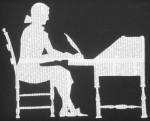 Silhouette Letter Writer