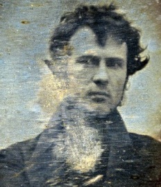 Robert Cornelius, Phila., 1839. Possibly the first American photo portrait.