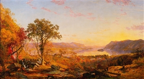 """Indian Summer,"" Jasper Francis Cropsey, 1866"