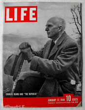 Charles Beard on the cover of Life Magazine (17 Jan 1944)