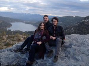 Maya Rook at Donner Lake, with director Philip Gates and writer Adam Scott Mazer