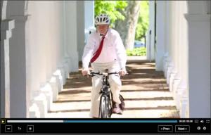 Peter Onuf on Bike