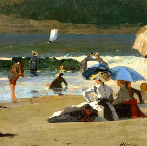 """By the Shore,"" Winslow Homer, ca. 1870"