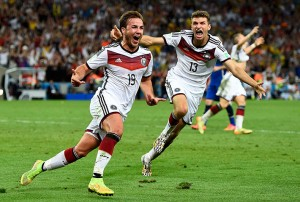 Germany's Goetze celebrates