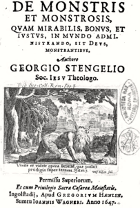 Figure 2: Title Page of Stengel's Des Monstris et Monstrosis (1647). Accessed via Google Books.