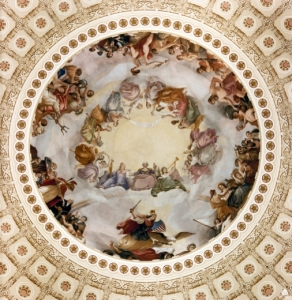 The Apotheosis of George Washington, by Constantino Brumidi (1865).