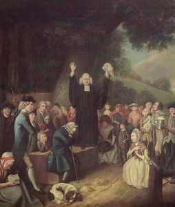 George Whitefield Preaching in Philadelphia