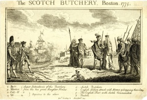 The Scotch Butchery, Boston 1775, (London, 1775).