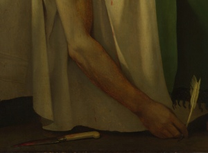 Detail from Death of Marat