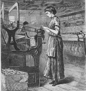 Cartoon or Sketch of Mill Woman_0