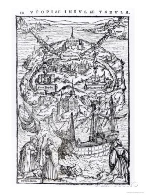 Utopia, 1516, frontispiece