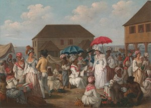 Linen Market, Dominica, by Agostino Brunias (1780), Yale Center for British Art