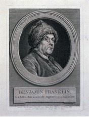 Benjamin Franklin (Augustin de Saint Aubin after Charles Nicholas Cochin, 1777, private collection)