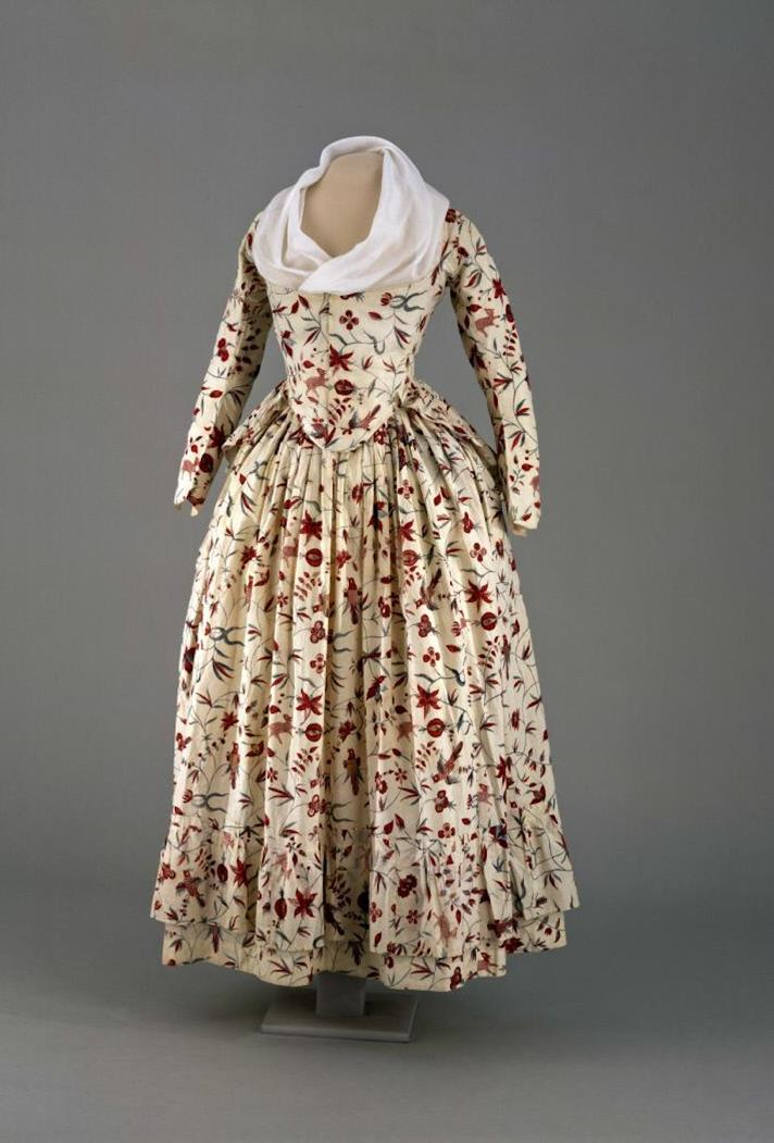 An Indian Chintz Gown Slavery And Fashion The Junto